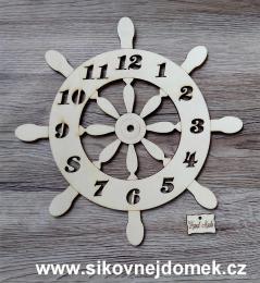 2D hodiny kormidlo s èísly 24,5cm-BEZ HOD.STROJKU - zvìtšit obrázek