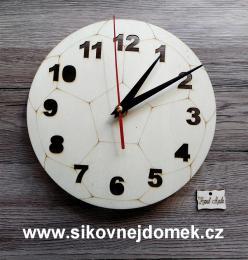2D hodiny fotbalový míè 19,5cm
