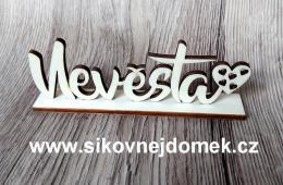Nevìsta + podložka vyø.sdíèka 12,5x4,5cm - zvìtšit obrázek