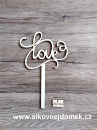 Zápich svatební Love,síla mat.0,4cm - zvětšit obrázek
