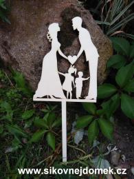 Zápich svatební nevěsta,ženich,chlapeček,holčička-síla mat.0,4cm - zvětšit obrázek