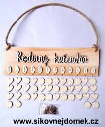 Sestava Rodinný kalendáø deska obdélník béžovo-zlatá