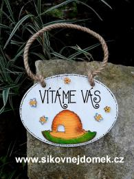 Cedulka ovál 16x12cm-Včelí úl - zvětšit obrázek