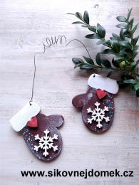 Rukavice vánoèní hnìdá vloèka è.2 - zvìtšit obrázek