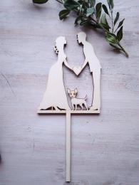 Zápich svatební nevìsta,ženich,èivava-síla mat.0,4cm - zvìtšit obrázek