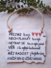 Cedulka Pøijmi... 14x11cm-hnìdo-bílá - zvìtšit obrázek