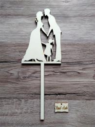 Zápich svatební nevìsta,ženich,holèièka s culíkem-síla mat.0,4cm - zvìtšit obrázek