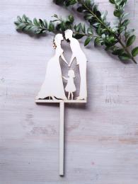 Zápich svatební nevìsta,ženich,holèièka-síla mat.0,4cm - zvìtšit obrázek