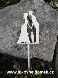 Zápich svatební ženich nevìsta,chlapeèek-síla mat.0,4cm - zvìtšit obrázek