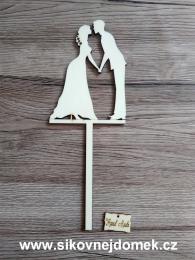 Zápich svatební ženich nevěsta-síla mat.0,4cm - zvětšit obrázek