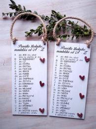 Cedulka Pravidla šťastného manželství. 24x11cm- -hnědo-bílá - zvětšit obrázek
