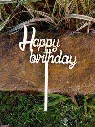 Zápich Happy birthday, síla materiál 0,4cm