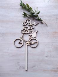 Zápich Pan+Paní-kolo s košíkem,síla mat.0,4cm - zvìtšit obrázek