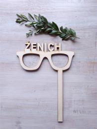 Zápich Ženich-brýle, síla mat.0,4cm - zvětšit obrázek