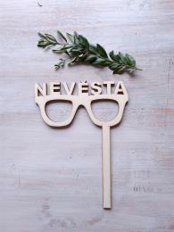 Zápich Nevěsta-brýle, síla mat.0,4cm - zvětšit obrázek