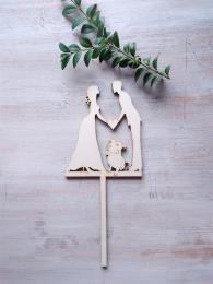 Zápich svatební nevěsta,ženich,staford bulteriér-síla mat.0,4cm - zvětšit obrázek