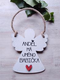 2D andìl 14x11cm- Andìl má jméno babièka... - zvìtšit obrázek