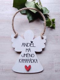 2D andìl 14x11cm- Andìl má jméno kamarádka...