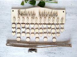 Sestava Rodinný kalendáø deska oblouèek+KROUŽKY A PROVAZ - zvìtšit obrázek