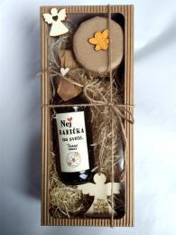 Dárkovì balená medovinka 200ml+med 150g-Nej babièka v papírové krabièce