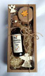 Dárkovì balená medovinka 200ml+med 150g-Nej dìdeèek v papírové krabièce