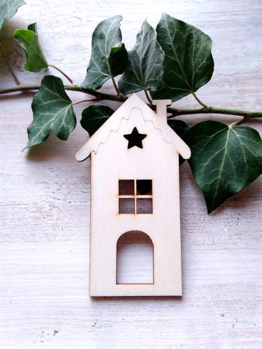 Vánoèní ozdoba domeèek è.5 -12x8,5cm