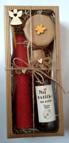 Dárkovì balená medovinka 200ml+med 150g+svíèka-Nej babièka v papírové krabièce - zvìtšit obrázek