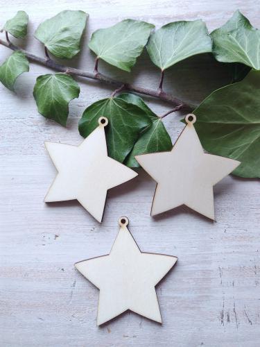 Vánoèní ozdoba hvìzda 6x6cm - zvìtšit obrázek