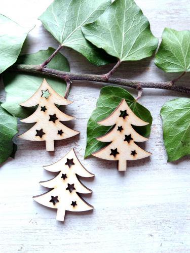 vánoèní stromeèek s hvìzdièkami v.4x3,5cm