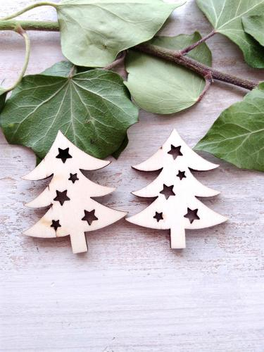 Vánoèní stromeèek s hvìzdièkami, v.5x4,4cm