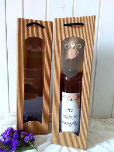 Dárková taška na lahev 300 a 500ml,cena za 1ks