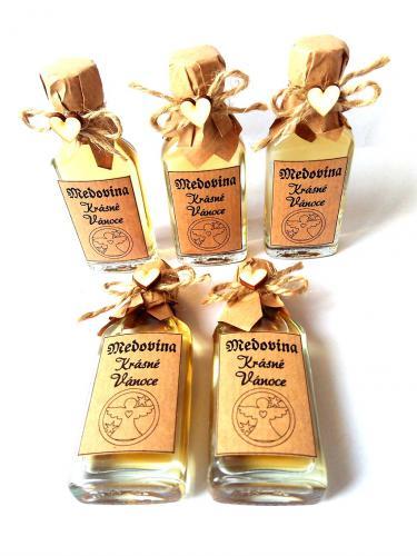 Medovina 100ml - Krásné vánoce,andìl v kruhu, tmavá pøírodní, cena za ks - zvìtšit obrázek