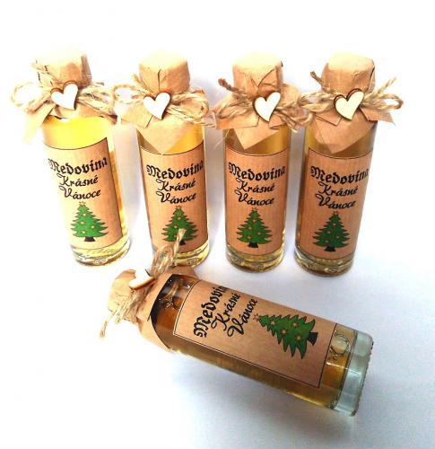 Medovina 40ml - Krásné vánoce, stromeèek, tamvá pøírodní, cena za ks - zvìtšit obrázek