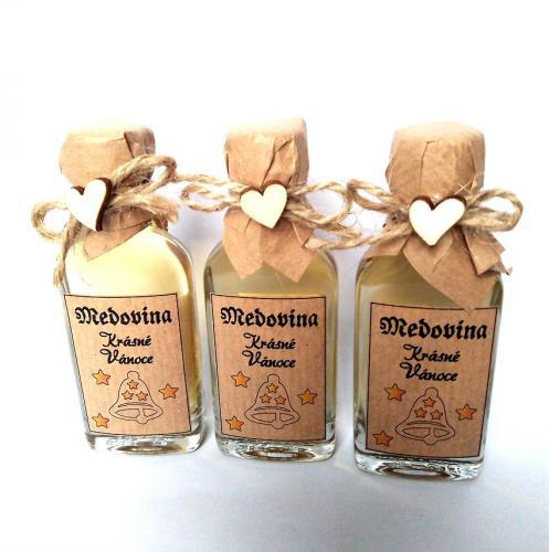 Medovina 100ml - Krásné vánoce,zvoneèek, tmavá pøírodní, cena za ks