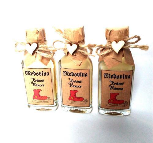 Medovina 20ml - Krásné vánoce, brusle, tamvá pøírodní, cena za ks - zvìtšit obrázek