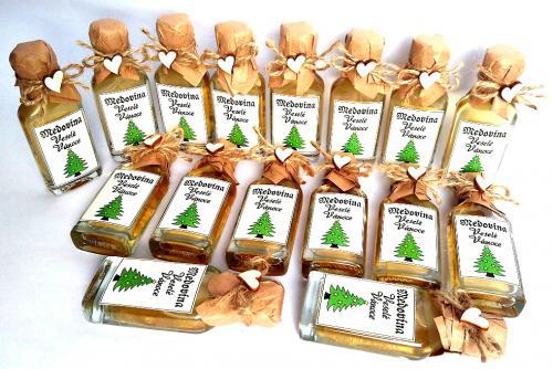 Medovina 20ml - Veselé vánoce, stromeèek, sv.pøírodní, cena za ks - zvìtšit obrázek