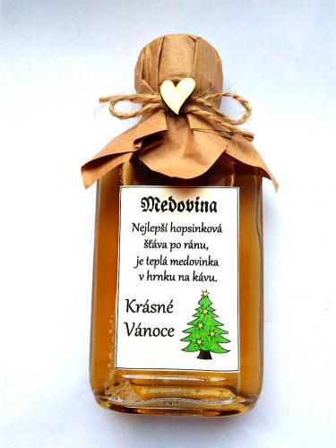 Medovina 20ml - Krásné vánoce-hopsinková š�áva, tamvá pøírodní