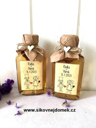 Svatební medovina 100ml, ženich+nevìsta