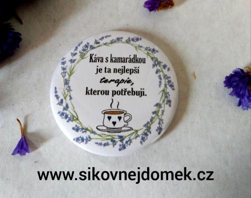 Magnet pr.5cm- Káva s kamarádkou.... levandule