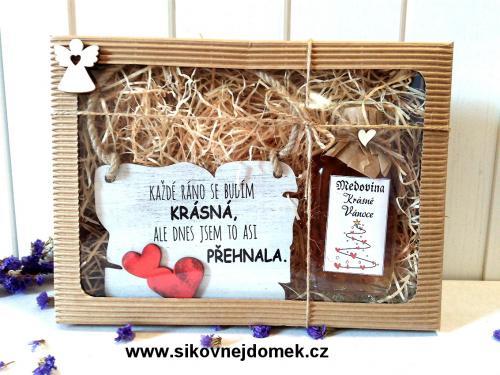 Dárková vánoèní sada: Cedulka Každé ráno + medovina 100ml