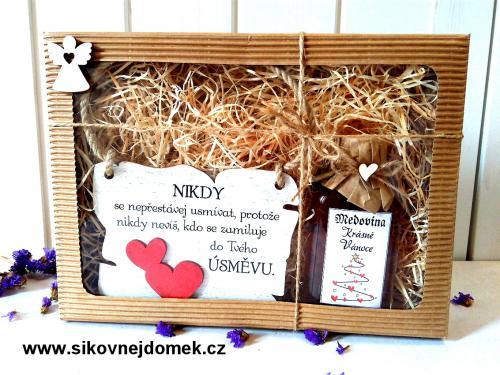Dárková vánoèní sada: Nikdy se nepøestávej usmívat... + medovina 100ml