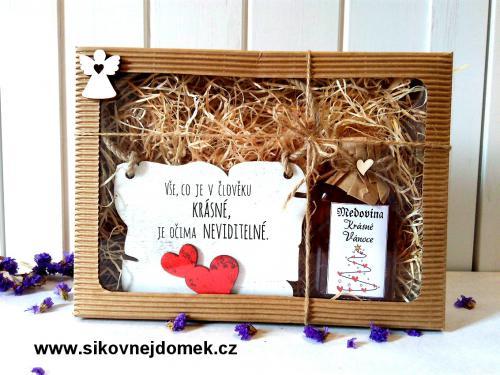 Dárková vánoèní sada: Vše,co je v èlovìku krásné... + medovina 100ml