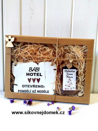Dárková vánoèní sada: Babi hotel + medovina 100ml