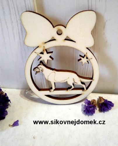 Vánoèní ozdoba koule - nìmecký ovèák 8x6cm