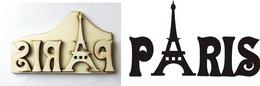 Razítko pøekližka PARIS v. 5,5x9,5cm