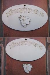 Cedulka Dìtský pokoj + beruška  14x8cm