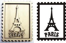 Razítko pøekližka Paris+eifelova vìž ve známce cca 10,5x7,5cm