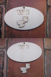 Cedulka WC+výøez 14x8cm