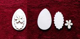 3D zápich na špejli vejce+kytièka -3ks