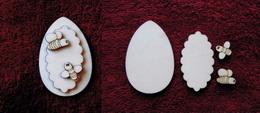 3D zápich na špejli vejce+vèelky-3ks